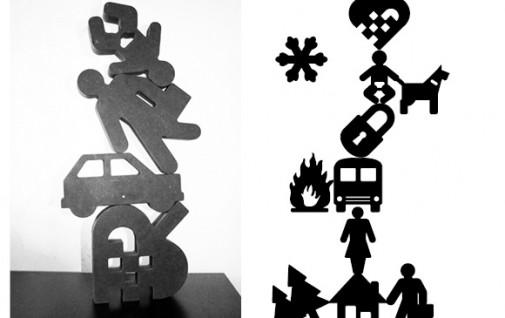 piktogramklodser, danish craft, kunst for børn